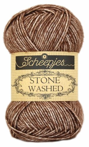 "Scheepjes Stone Washed ""Brown Agate"", Farbe 822"