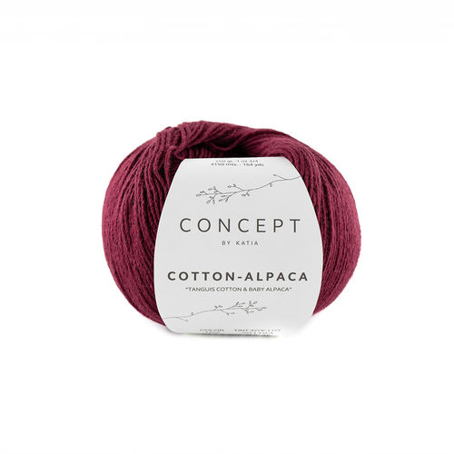 "Katia  ""Cotton-Alpaca"", Fb.102 - Weinrot"